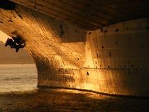 Стальной заход солнца Стоковое фото RF