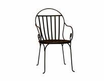 Стальной изолированный стул стоковое изображение rf