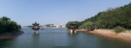Стальной канатный мост Стоковые Фото