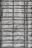 Стальной фон холста решетки стоковое фото
