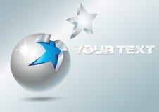 Стальной шарик с звездой Стоковая Фотография RF