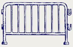 Стальные баррикады иллюстрация вектора