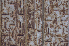 Стальные леса заржавели предпосылка и текстура стоковые фотографии rf