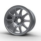 Стальные диски для иллюстрации автомобиля 3D Стоковые Изображения