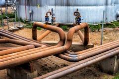 Стальные трубы с клапанами Стоковое Фото