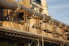 Стальные трубы электростанции Стоковое Фото