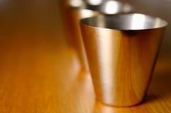 Стальные чашки Стоковая Фотография RF