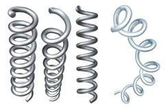 Стальные элементы дизайна катушки весны металла иллюстрация штока
