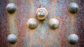 сталь заклепанная предпосылкой ржавая Стоковые Изображения RF