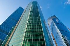 Сталь и стеклянные корпоративные здания Стоковое Изображение