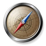 сталь компаса детальная Стоковое Фото