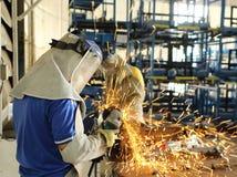 Сталь работника меля Стоковые Фото