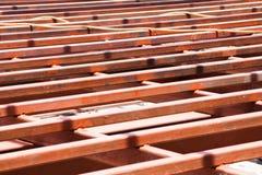 Сталь структуры в строительной площадке Стоковые Изображения RF