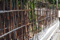 Сталь для структуры здания в строительной площадке Стоковая Фотография