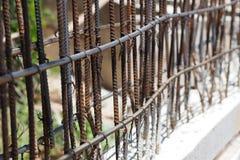 Сталь для структуры здания в строительной площадке Стоковое Фото