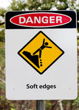 Ствол шахты предупредительного знака Стоковые Изображения RF