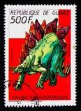 Стегозавр, доисторическое serie животных, около 1987 Стоковые Фотографии RF