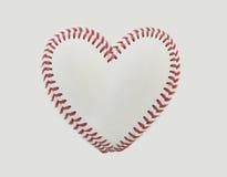 Стежки бейсбола в форме сердца Стоковые Фотографии RF
