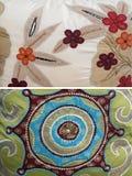 стежок группы абстрактной ткани флористический Стоковые Фотографии RF