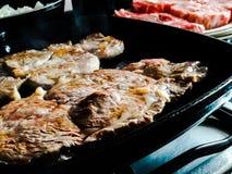 стейки зажженные говядиной стоковое фото