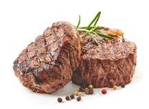 стейки зажженные говядиной стоковые изображения