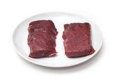 Стейки мяса верблюда Стоковая Фотография