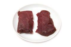 Стейки мяса верблюда Стоковое фото RF
