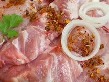 стейки мяса сырцовые Стоковое Изображение