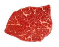 Стейк говядины изолированный на белой предпосылке Стоковые Изображения RF