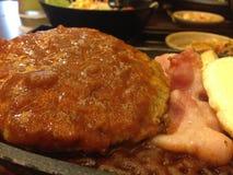 Стейк говядины, конец вверх по еде Стоковая Фотография RF