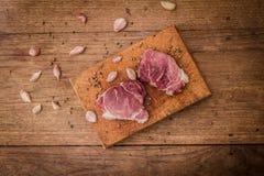 стейк говядины сырцовый Стоковая Фотография RF