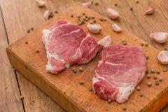 стейк говядины сырцовый Стоковое Фото