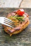 Стейк, говядина, обедающий, обед Стоковое Фото