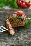 Стейк, говядина, обедающий, обед Стоковая Фотография