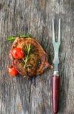 Стейк, говядина, обедающий, обед Стоковые Изображения