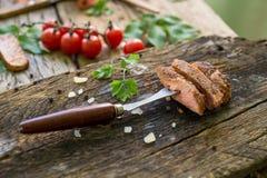 Стейк, говядина, обедающий, обед Стоковые Фото