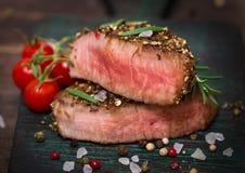 Стейк говядины стоковые изображения