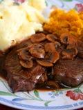 стейк гриба еды Стоковое Изображение