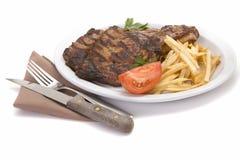 стейк еды Стоковые Изображения RF