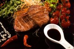 стейк зажаренный в духовке мясом Стоковая Фотография