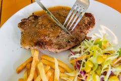 стейк зажженный говядиной Стоковое Изображение