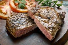 стейк зажженный говядиной Стоковые Фото