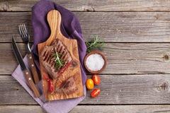 стейк зажженный говядиной Стоковая Фотография