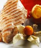 стейк зажженный цыпленком Стоковая Фотография