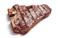 стейк изолированный говядиной стоковое фото