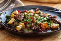 Стейк и картошки Chimichurri стоковые фото