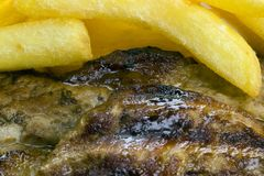Стейк и обломоки говядины стоковые изображения rf