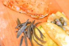 Стейк и овощи стоковые фотографии rf