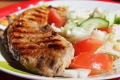 Стейк и овощи. Стоковые Фото