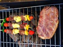 стейк и BBQ Стоковые Изображения